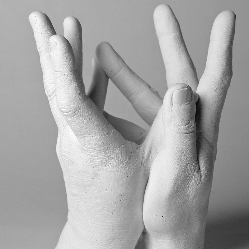 Gipsabdruck zweier Hände