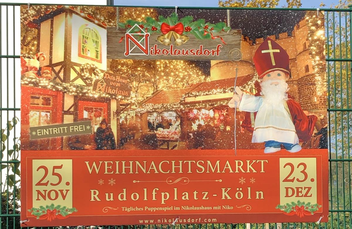 Plakat Weihnachtsmarkt Rudolfplatz